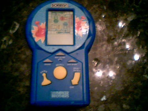 1996 Hasbro, Inc. Hasbro Parker Brothers Sorry! Electronic LCD Hand-Held Game (Blue Color Version)