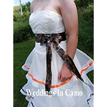 CAMO RIBBON SASH Women or Girls