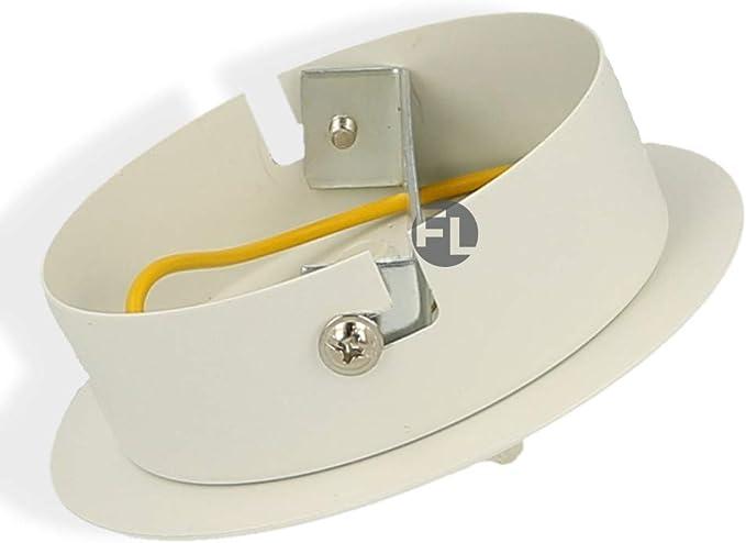 Flairlux Baldaquin m/étal 1 trou Mod/èle massif avec c/âble de terre Accessoires de lampe DIY pour /éclairage cr/éatif Suspension de lampe Rosace de plafond pour fixation de suspensions
