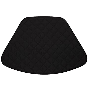 Set Of 2 Black Quilted Wedge Shaped Placemats For Round Tables