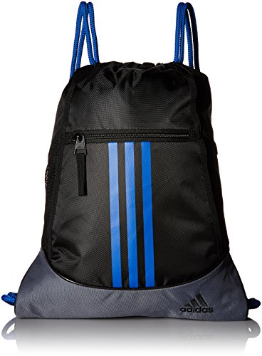 adidas Alliance II Sack Pack, One Size, Black/Onix/Blue by adidas