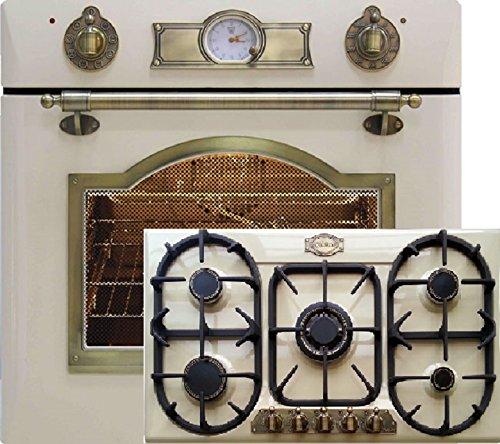 Cucina a gas autonoma con forno Kaiser Empire avorio / Forno ...