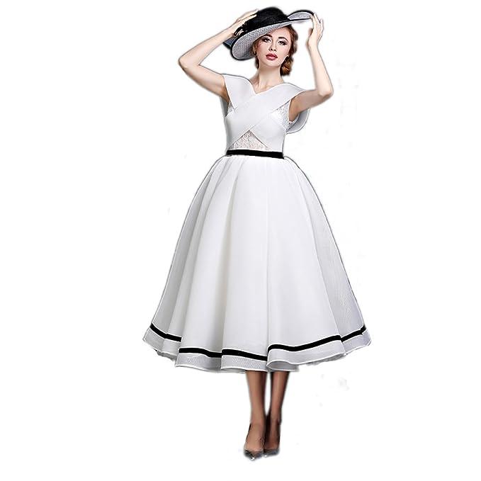 Engerla - Vestido de novia - globo - Básico - Manga Corta - Mujer Blanco +