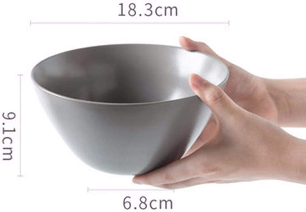 NMBC Bol en c/éramique 1 Saladier Petit d/éjeuner Bol de Riz Bol de Nouilles Bol /à Soupe Bol Multifonction Empilable-16cm*8cm*6cm Rose