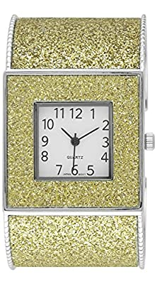 Moulin Womens Glitter Cuff Gold Watch #15992.60552