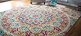 Cheap Mohawk Home 12486 416 090120 Strata Jerada Floral Sphere Printed Area Rug, 7'6 x 10′, Multicolor