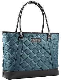Women Laptop Tote Bag, Lightweight Nylon 15-15.6 Inches Tablet Handbag Shoulder Bag for Women,Computer,Business,Work,Travel Blue