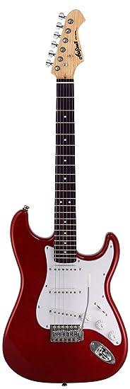 Aria STG003BL - Guitarra Stratocaster, color blanco: Amazon.es ...