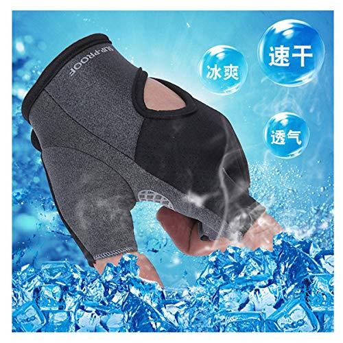 Midress Winter Warm Fingerless Gloves,Womens Fingerless Gloves Knit Warmers Mittens,Women Men Yoga Fitness Gloves Gym Training Sports Non-Slip Bicycle Gloves (M, Black)