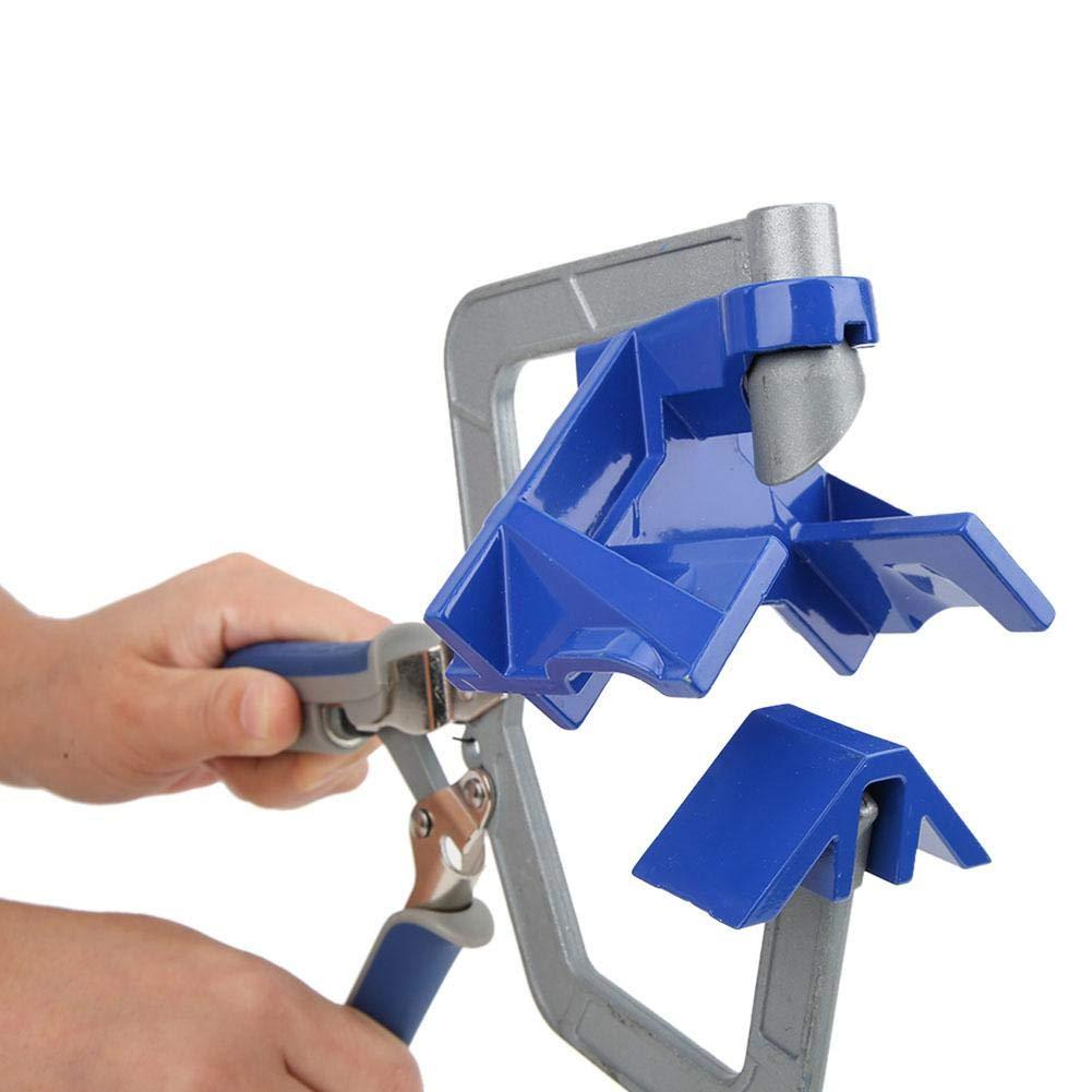 plata tablero de madera Abrazadera de esquina de /ángulo recto de 90 grados Herramienta manual de sujeci/ón para carpinter/ía Abrazadera de esquina de /ángulo recto azul manija de presi/ón