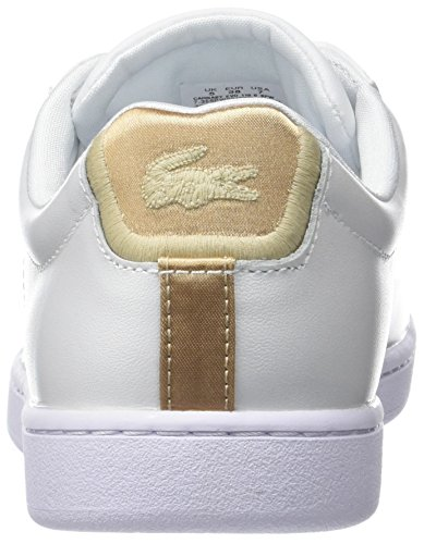 Bianco 216 Lacoste Sneakers Spw Carnaby gld donna 118 wht da Evo 6 Xr8XTPx