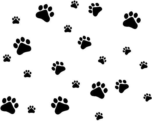 Amazon Com Mlm Dog Paw Prints Dog Pup Removable Vinyl Wall Sticker Decoration Decor For Children Nursery Room Home Decor Art Mural Diy Home Kitchen
