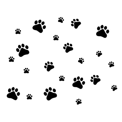 def15e46feb6 Amazon.com: MLM Dog Paw Prints-Dog Pup Removable Vinyl Wall Sticker  Decoration Décor For Children Nursery Room Home Décor Art Mural DIY: Home &  Kitchen