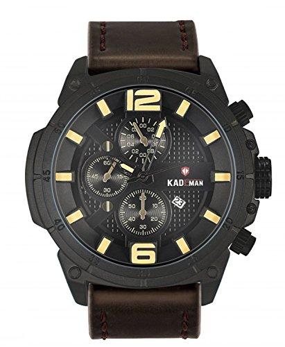 KADEMAN Men's watch Waterproof Multifunctions Fashion Business Casual Sports Watches (rice - Watch Subdial 3