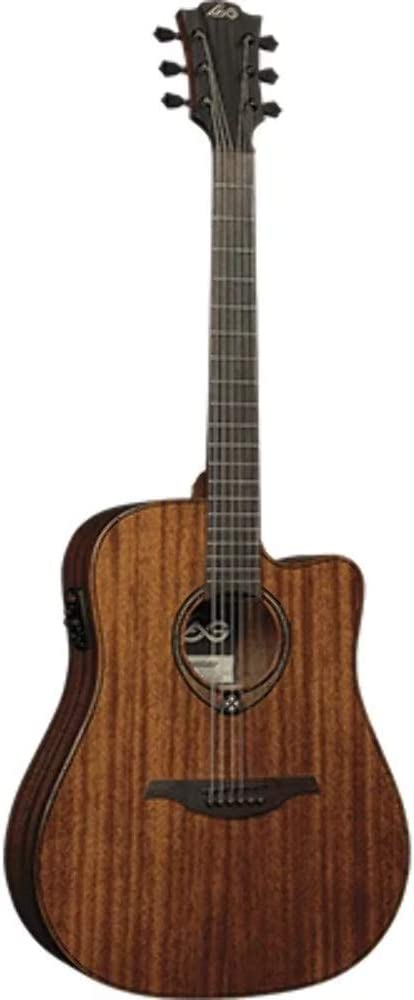 LAG T98DCE Dreadnought - Guitarra electroacústica Khaya Cutaway