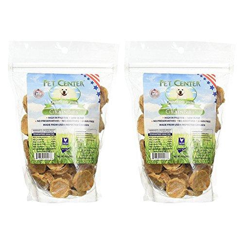 PCI Pet Center Natural U.S. Made Chicken Nibbles Dog Treats - 8 Oz. Bag (2 Pack)