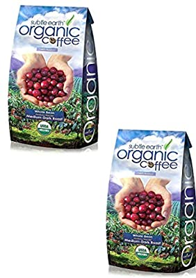 5LB Cafe Don Pablo Subtle Earth Organic Gourmet Coffee - Medium Dark Roast - Whole Bean Coffee - USDA Certified Organic Arabica Coffee - (5 lb) Bag