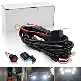 Safego LED Light Bar Wiring Harness Fuse with Round Rocker Switch ON/Off 3M 12V 40A WR-16#-3M-RS