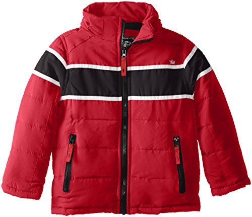 Boys' with Horizontal Bubble Red YMI Hood Jacket Racing Contrasting Stripe Detachable and wRdxtUqt
