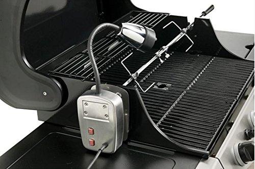 Electric BBQ Light and Universal Rotisserie Kit - 240 volt BBQ Rotisserie Callow Retail