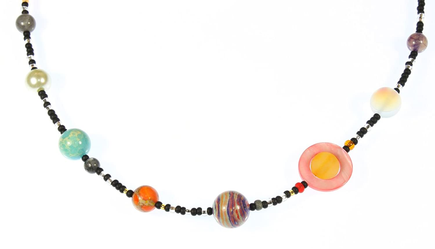 The Nine Planets Necklace, Our Solar System Necklace, 22 Inches by ...