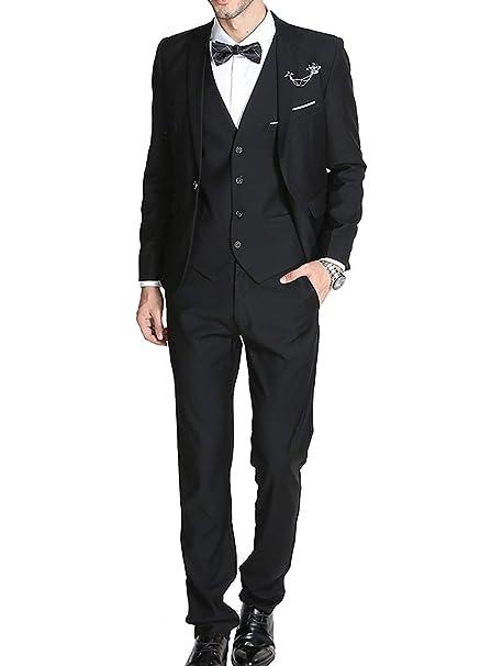 dafa633b6 Trajes para Hombre 3 Piezas Slim Fit Clásico Formal de la Boda Chaquetas de  Traje de