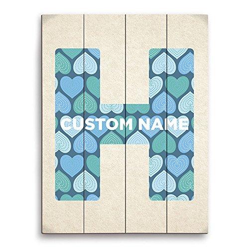 (Letter H Custom Name Customizable Initial Wall Art Print)