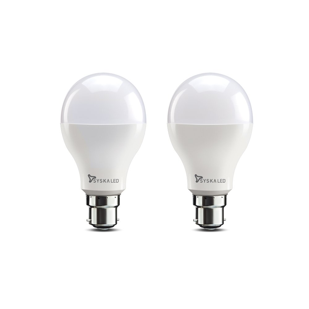 Syska B22 15-Watt Led Bulb (Pack Of 2, Cool Day Light) - - Amazon.com