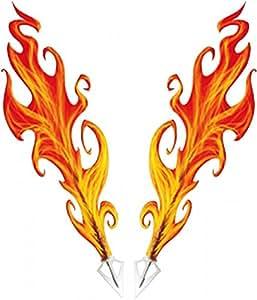 Car-Skin-Tattoo Flames, 115 x 100 mm