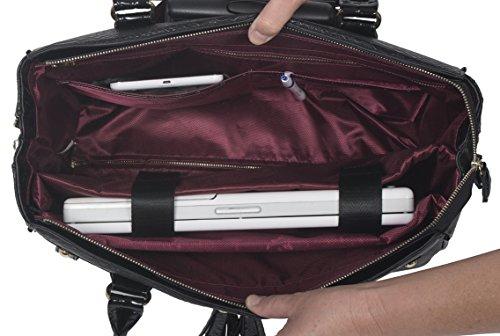 Die Barrington schwarz python & Alligator Computer iPad, Laptop Tablet Rolling Tasche Aktentasche Tragetasche
