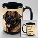 Dog Breeds (L-Z) Leonberger 15-oz Coffee Mug Bundle with Non-Negotiable K-Nine Cash by Imprints Plus (106)