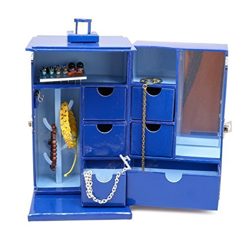- Doctor Who Tardis Jewelry Box - Includes 7 Drawers, Mirror, and Ring Hanger