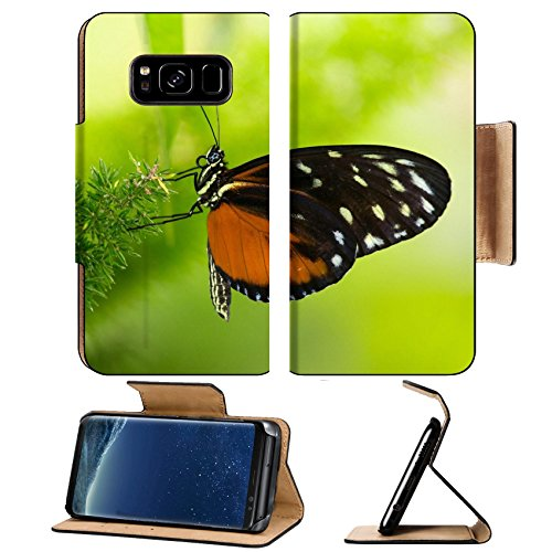 Liili Premium Samsung Galaxy S8 Plus Flip Pu Leather Wallet Case Tiger Longwing butterfly Heliconius hecale sitting on a plant Photo 20632063 Simple Snap Carrying -