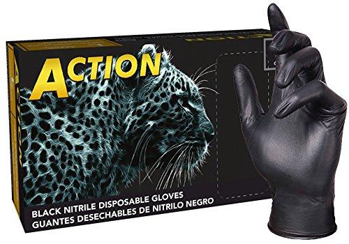 Shamrock 83013-L-BX Nitrile Industrial Grade Work Glove, Pow