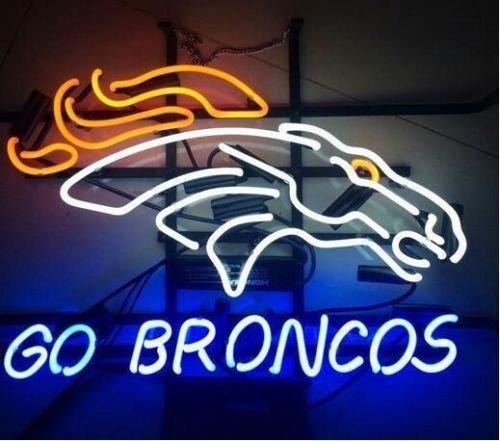 "Price comparison product image Urby™ 19""x15"" Sports Teams Go_Broncos Custom Neon Sign Beer Bar Pub Neon Light 3-Year Warranty-Fantastic Artwork! S38"