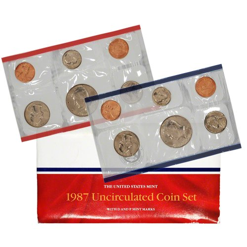 1987 United States Mint Uncirculated Coin Set in Original Government Packaging (1987 Coin)