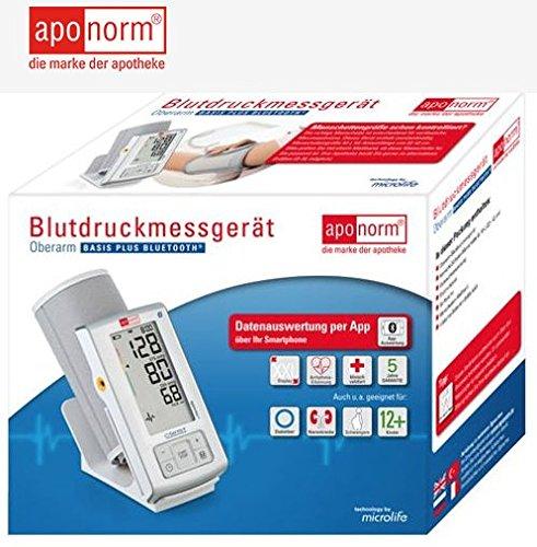 aponorm Basis Plus Bluetooth brazo Tensiómetro: Amazon.es: Salud y cuidado personal