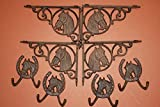 (8) WESTERN SHELF BRACKETS, CORBELS, RANCH WALL HOOKS, HORSE WALL DECOR, RUSTIC