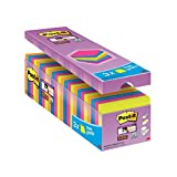 "Post-it 76 x 76 mm ""Value Pack"" Super Sticky Notes - Assorted Colours (Pack of 24)"