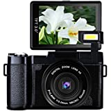 Digital Camera Vlogging Camera 24MP Full HD 1080p Camera 180 Degree Rotation Flip Screen 3.0 Inch Flip Screen