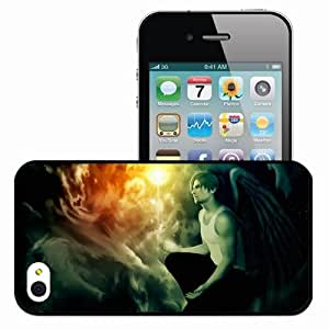 Personalized iPhone 5 5s Cell phone Case/Cover Skin Leon Scott Kennedy Resident Evil Biohazard Angel Black
