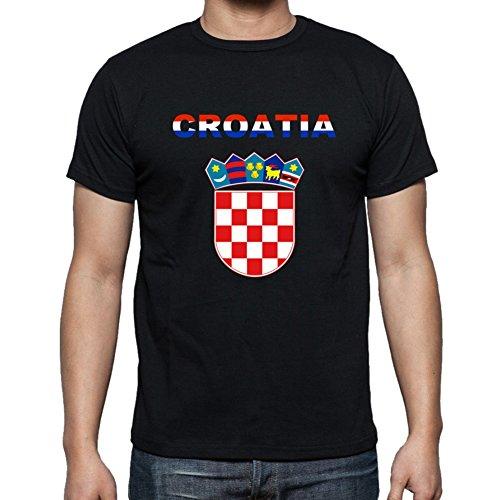 Croatian Flag Men's T-Shirt (Black) ()
