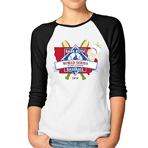 SAXON13 Women's Fashion Little League World Series Raglan 3/4 -