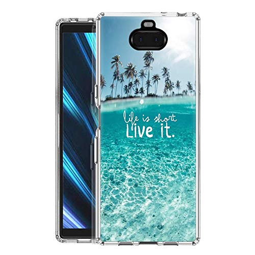 Pnakqil SonyXperia10 Phone Case, Transparent Clear with Pattern Shockproof Flexible Gel TPU Silicone Ultra-thin Protective Back Cover Bumper for SonyXperia10 Smartphone, Landscape