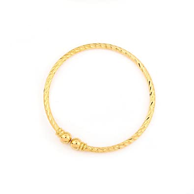 61f6ce5d2 Gold Dubai India Cuff Bangles Gold Plated Ethiopian Bangle Bracelet African Women  Jewelry (A)