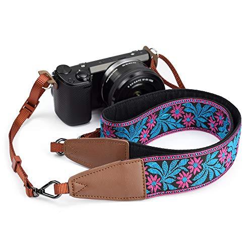 Purple Flowers LIFEMATE Camera Strap Shoulder Neck Belt for All SLR//DSLR