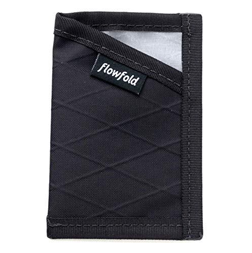 Flowfold RFID Blocking Minimalist Card Holder Durable Slim Wallet Front Pocket Wallet, Card Holder (Black)