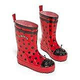 Kidorable Ladybug Rain Boot (Toddler/Little Kid), Red, 9 M US Toddler