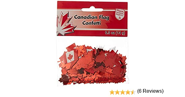 Amscan 36650 Canadian Flag Printed Confetti 1//2 oz Multicolor