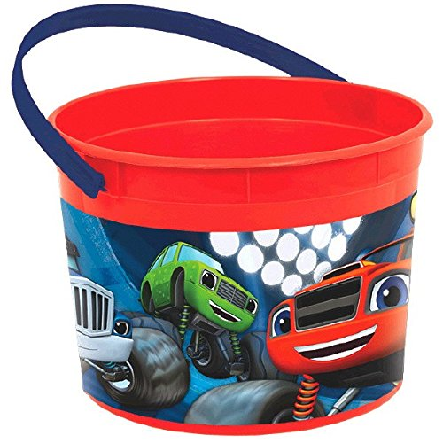 Amscan Rocking' Blaze & the Monster Machines Birthday Party Favor Container, Red, 4 1/2